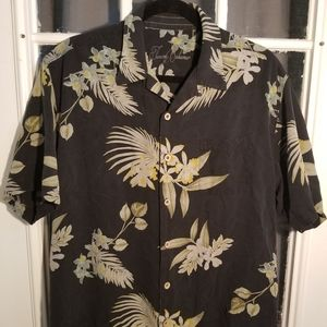 TOMMY BAHAMA Men's 100% Silk Hawaiian Shirt Large